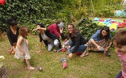 juegos en el pasto!